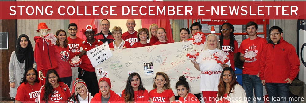 e-Newsletter STONG COLLEGE DECEMBER Banner