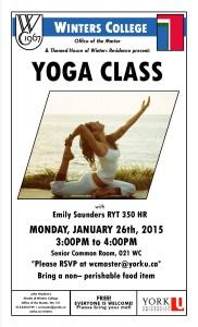 Yoga Class Poster