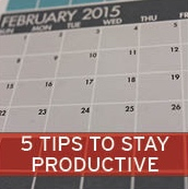 This is the Five Tips for Staying Productive link of the February Stong Newsletter.
