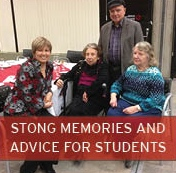 Strong Memories and Advice for Students Button