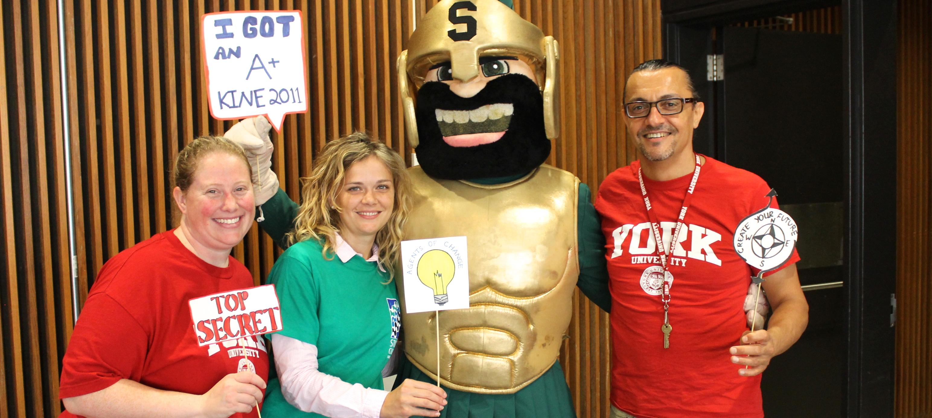 Stong Mascot and Admin Staff