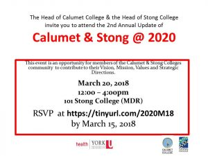Calumet & Stong Colleges @ 2020 @ 101 Stong (MDR)