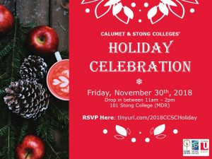 CCSC Holiday Party @ 101 Stong College (MDR)
