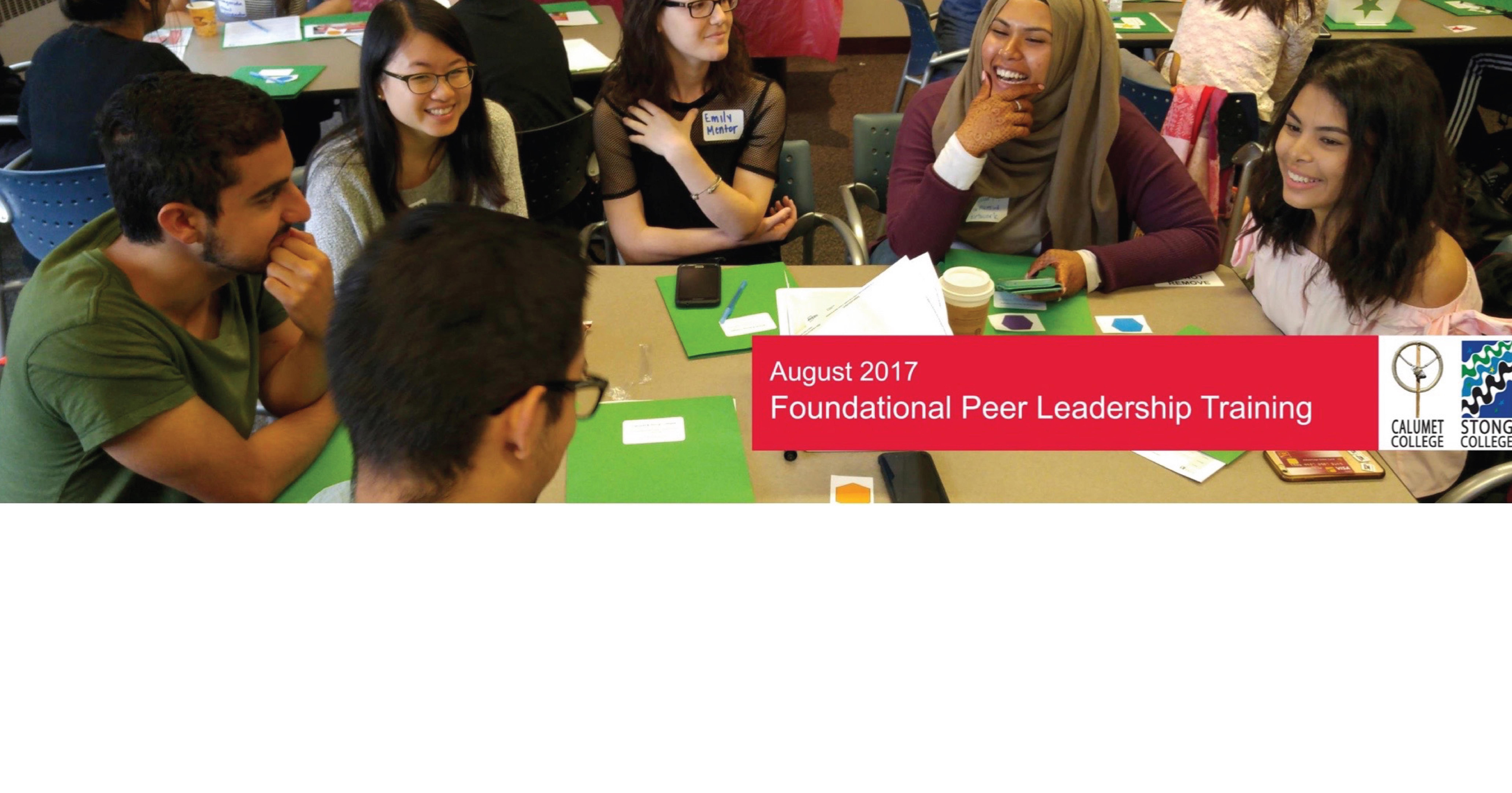 Foundational Peer Leadership Training