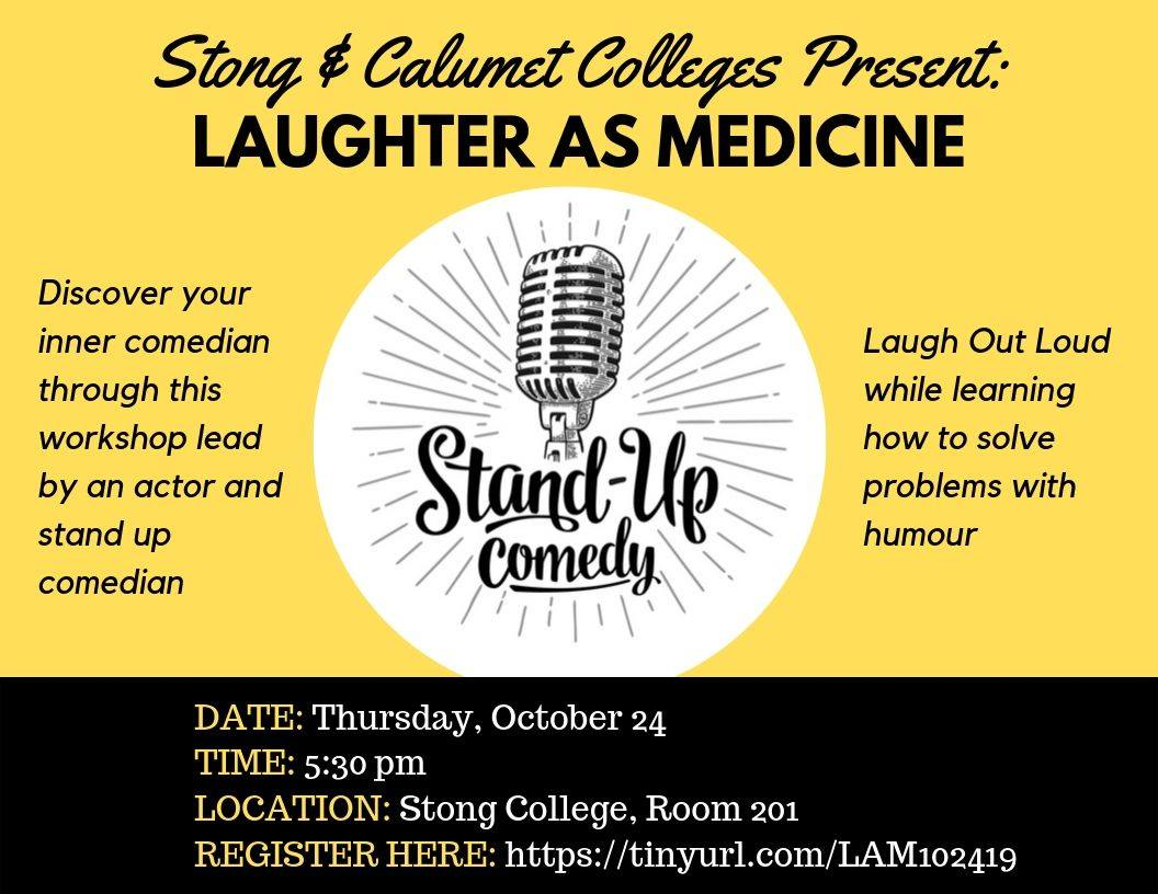 Introduction to comedy: Laughter as Medicine @ SC 201