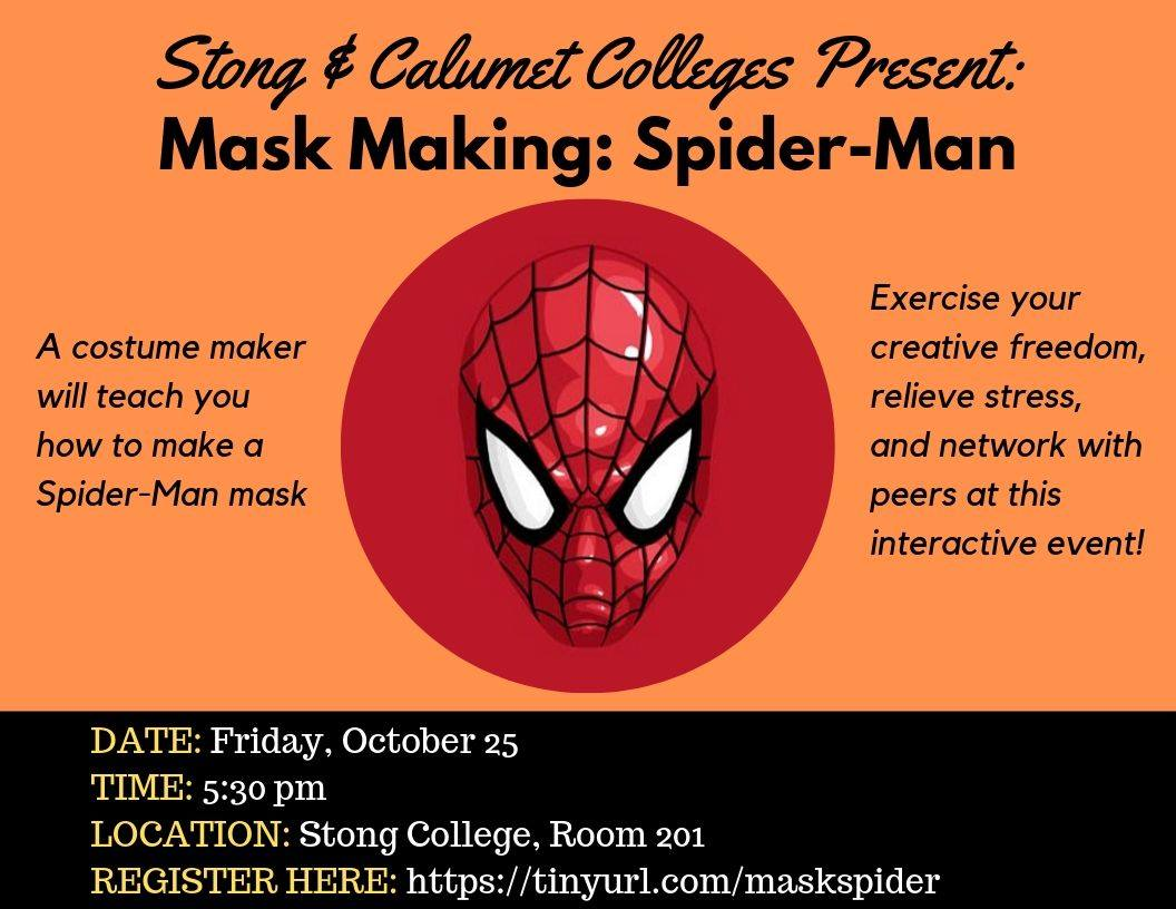 Mask Making: Spider-Man Mask @ SC 201