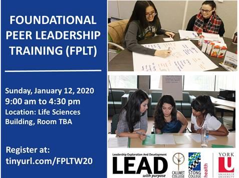 FPLT - Foundational Peer Leadership Training @ TBA