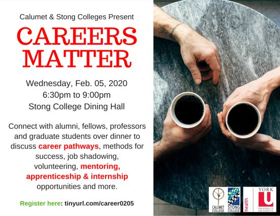 CAREERS MATTER @ Stong College Dining Hall
