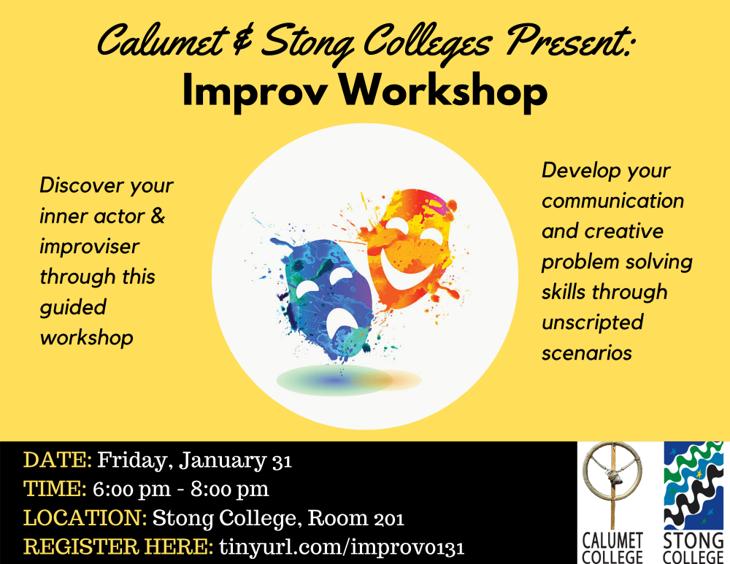 IMPROV WORKSHOP @ Stong College, Room 201