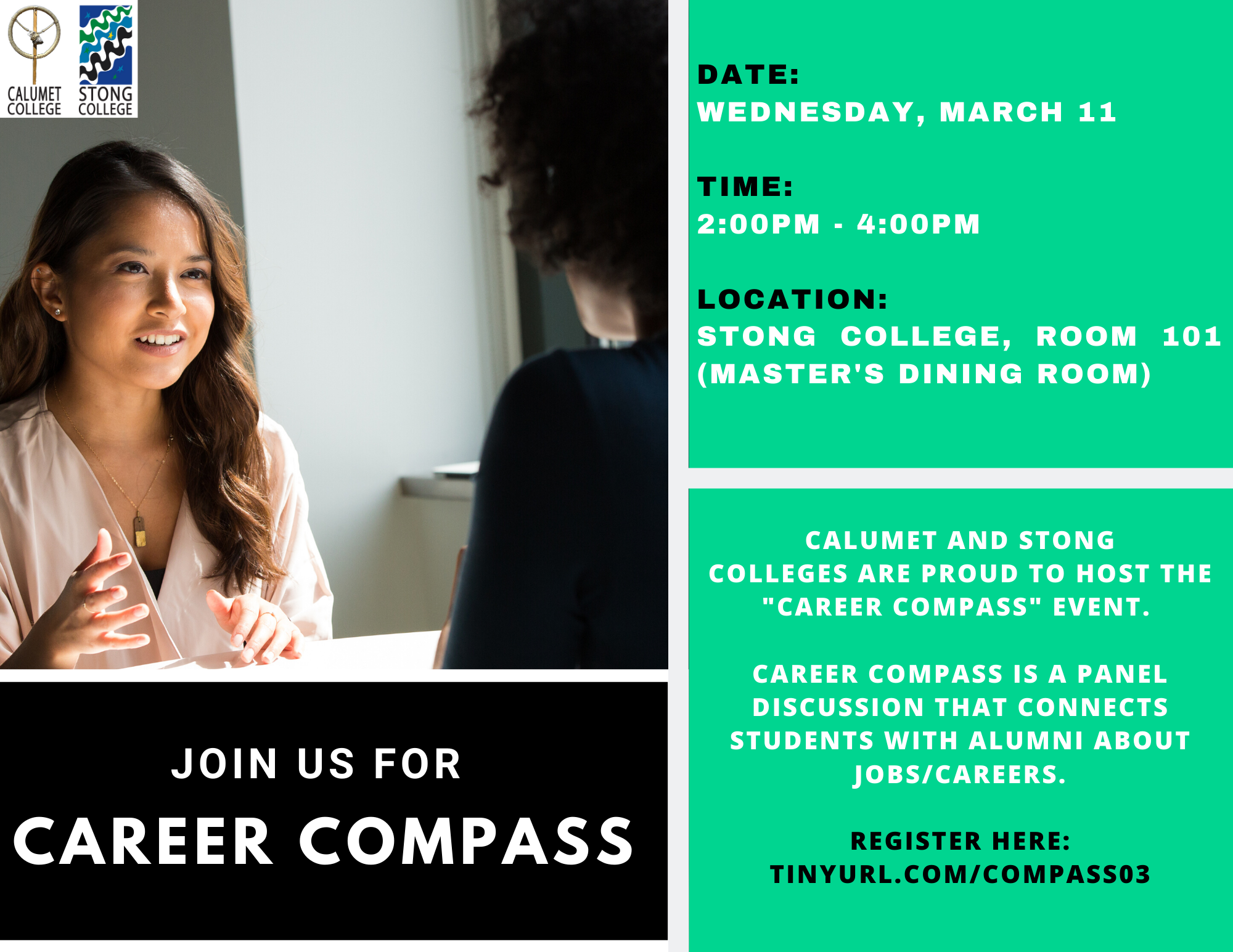 Career Compass @ Stong College, Room 101 (Master's Dining Room (MDR)