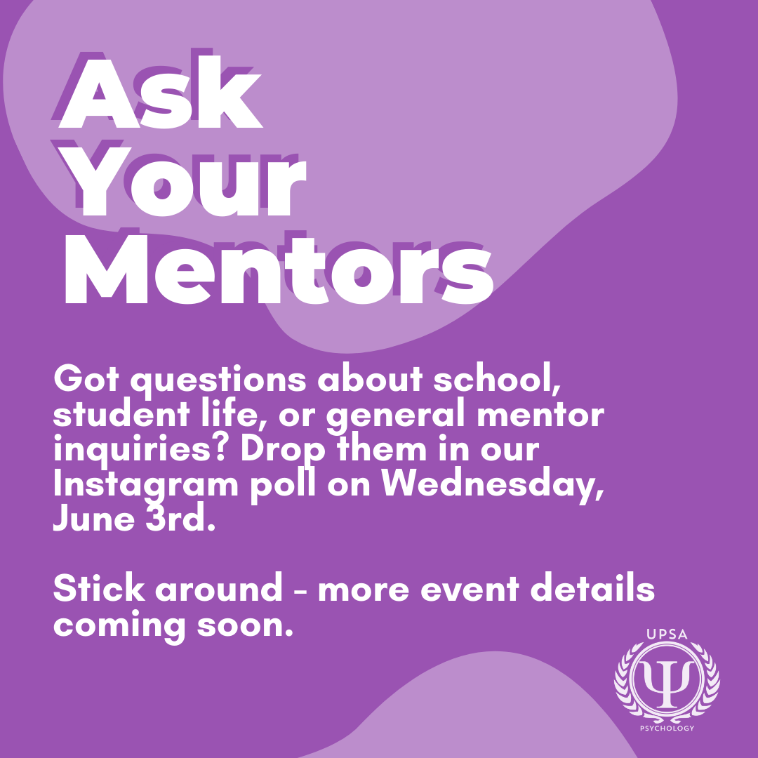 UPSA – ASK YOUR MENTOR @ Instagram Live with UPSA (@upsayorku)