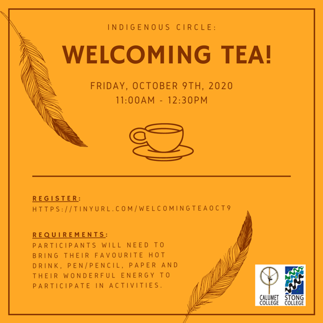 Indigenous Circle Welcoming Tea Poster
