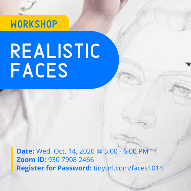 Realistic Faces Poster