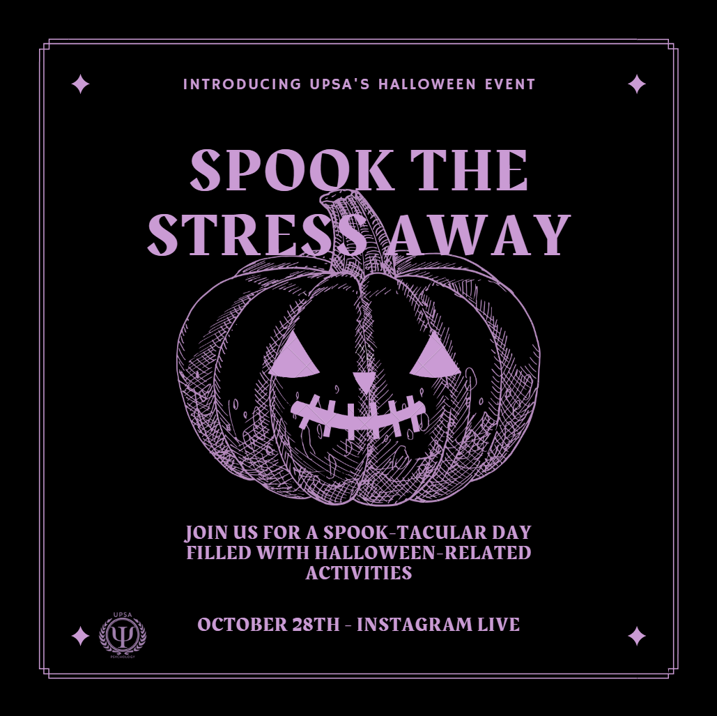 Spook the Stress Away @ Instagram Live (@UPSAYorkU)
