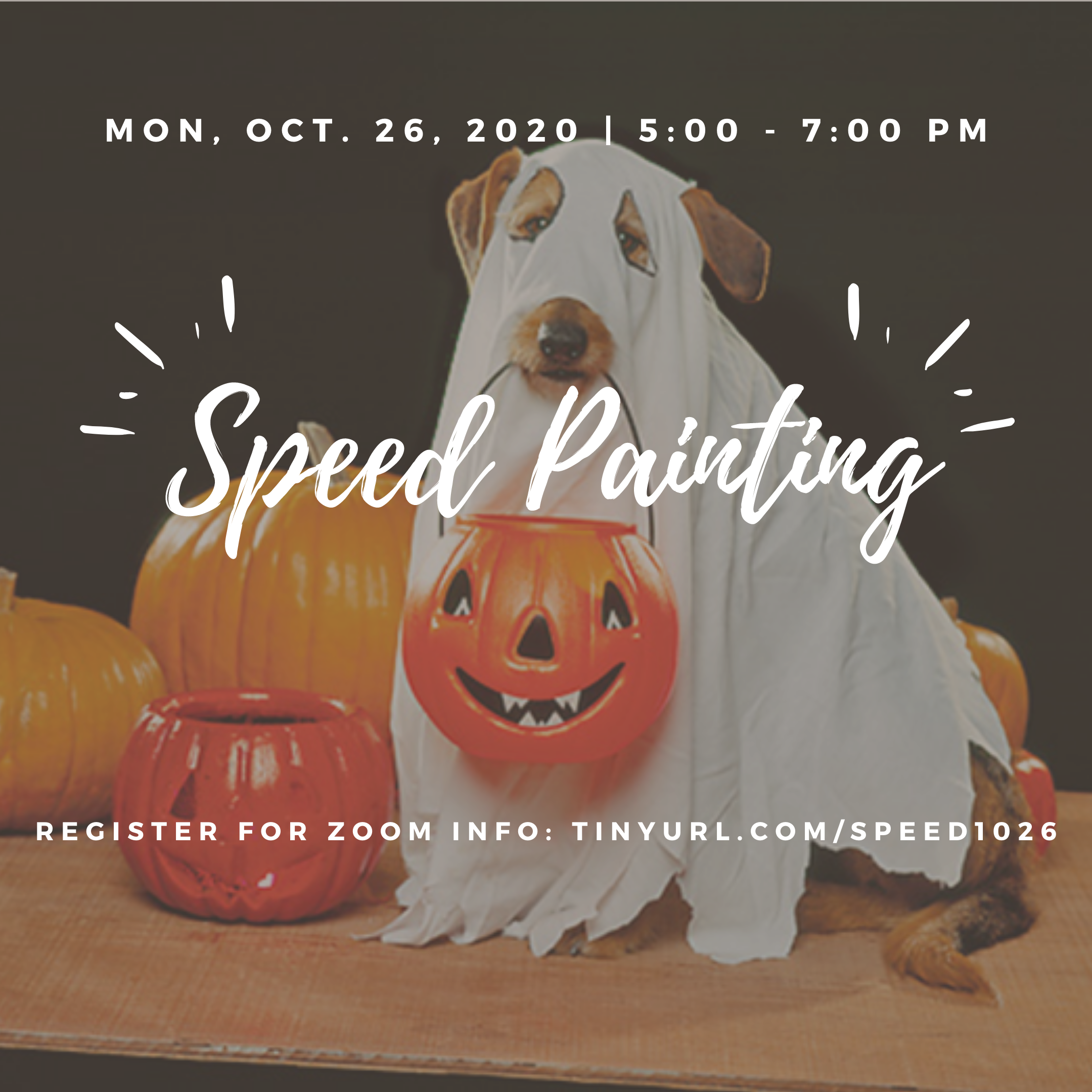 Halloween Speed Painting Event Poster