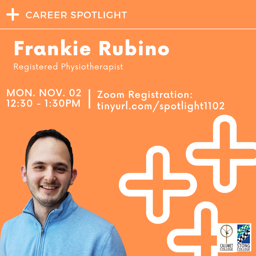 Career Spotlight: Frankie Rubino – Registered Physiotherapist @ Zoom Meeting ID: 967 9990 6731