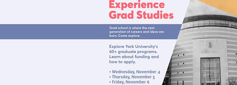 Grad Studies Virtual Event Poster