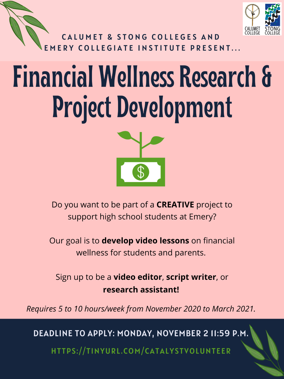Financial Wellness Research and Project Development Opportunity Deadline