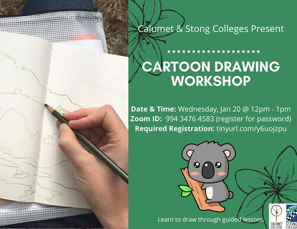 Intro to Cartoon Drawing @ Zoom Meeting ID​: 994 3476 4583