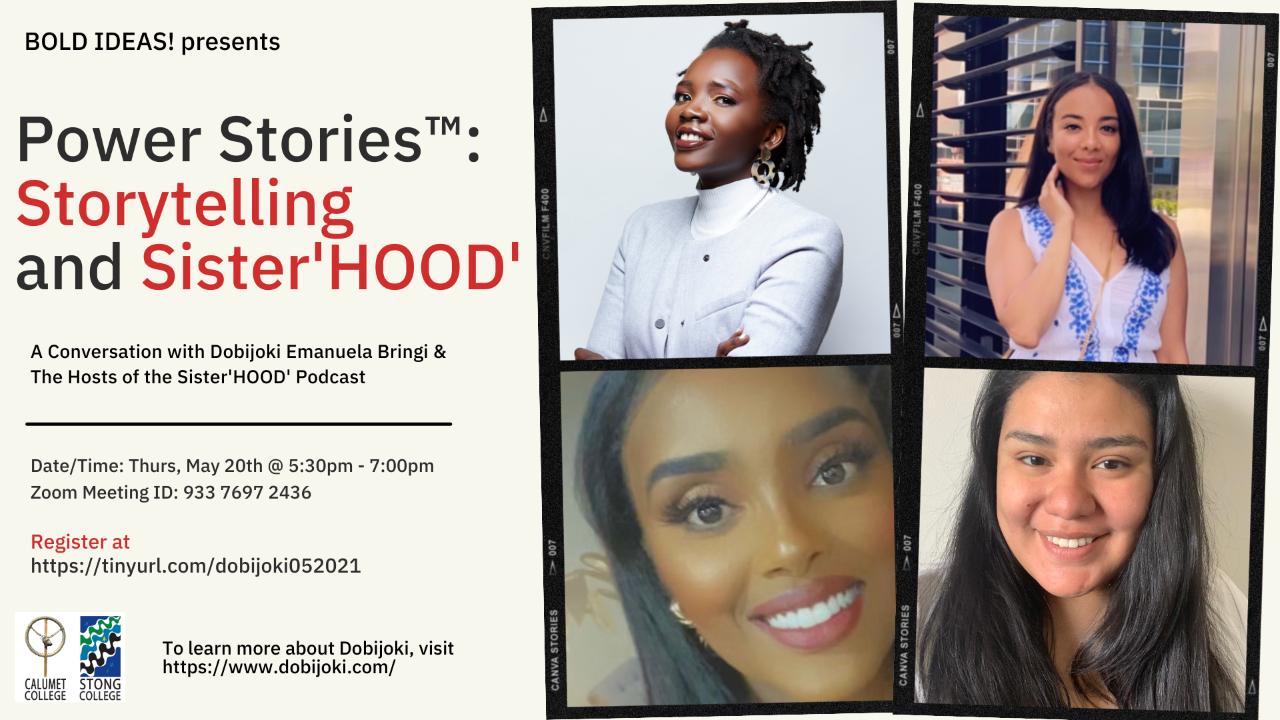 Bold Ideas: A conversation with Dobijoki Emanuela Bringi & Hosts of the Sister'HOOD' Podcast