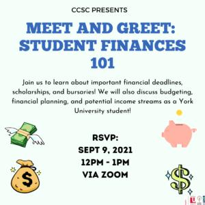 Meet & Greet: Student Finances 101